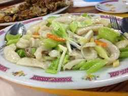 Stir fried sliced garoupa fillet with celery, something new for me, yum.