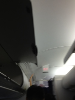 What is this being sprayed out of the vents when the plane landed?
