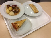 "Ikea food, husband had to try the ""burrito""- yuck. Apple pie was ok though!"