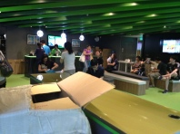 Groupon store, numbers keeping people patient.