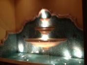 Fountains as you go up the escalator.