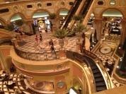 Escalators and casino below.