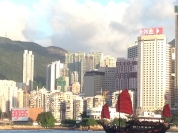 Back into Hong Kong harbour.