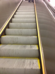 Grateful, so grateful for escalators.