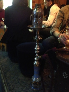 Close up of the hookah. I have absolutely no interest in using this ever but amused by the complicated nature of it.