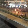 Fire dancers...