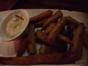 Sweet potato fries, most excellent.