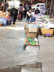 Found many items just sold along the street, like fairy wings, new iPhone cover, and card games.