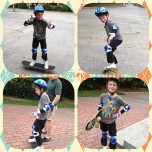 Skateboarding...