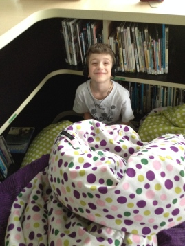 Kiddo still is making his little forts!