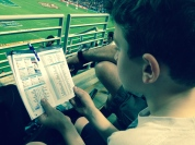 Kiddo learned to keep track of the scores.