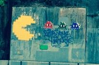 Pacman in old neighborhood.
