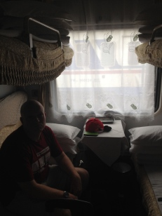 Then we got on our first night train, private compartment with a door!