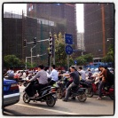 A little traffic in Nanning.