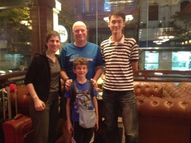 Met up with our wonderful Hanoi Kids guide, too bad we missed the day to tour with him, we were on a bus.