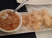 Rice and beans! Very different than usual for us!