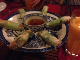 Never tire of getting salad rolls...