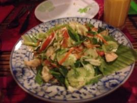 Yum, more chicken/salad...