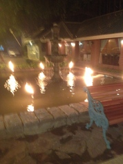 Fire in fountains, ok.