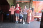 End of our stay at the hotel in Cambodia.