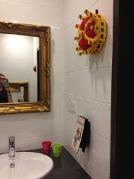 Lego crown in the bathroom? Sure...