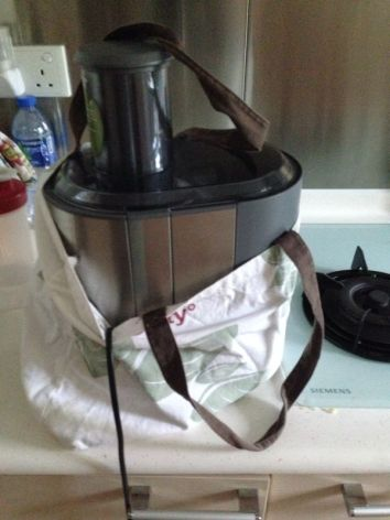 New-to-us juicer, part of my new lifestyle.
