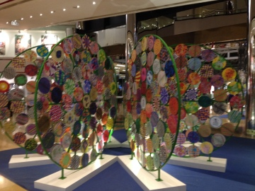Mardi Gras celebrations in June- displays - art from students, loved it.
