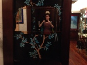 Hi me! I loved the painting of the tree behind the mirror...