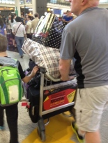 Airport in Hong Kong, we're loaded up!