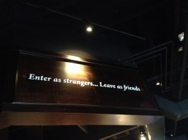Love this welcome to a restaurant...