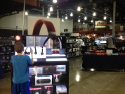 Walking through Frys Electronics is a little mind boggling after shopping in Hong Kong in little stores.