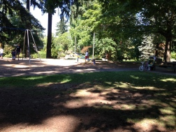 Then walk over the teeter totter...
