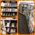 Library organized shelf example.