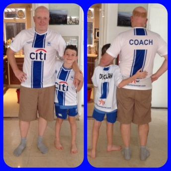 Husband is a coach with new football/soccer team.