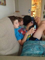 Kiddo and buddy enjoy visiting and Minecraft...