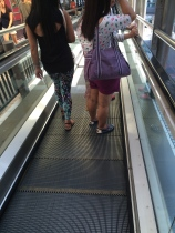 It has been a while since I was at the escalator when it was moving down...