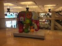 Elephants visit the mall...