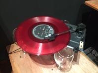 Record player exhibit.