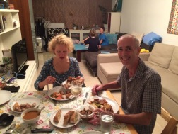 We ate with Alison and Steve, our wonderful neighbor friends