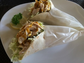 More chicken wrap