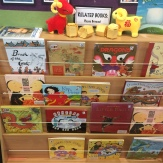 Display of books celebrating Chinese culture and Chinese New Year