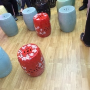 Stools for watching movie of lion dance