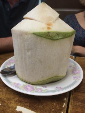 My friend's coconut drink