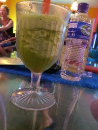 My favorite new drink- with mint and fruit juice