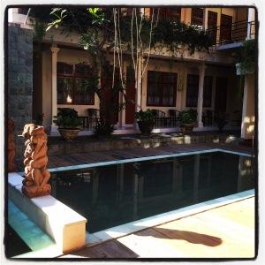 Serene swimming pool