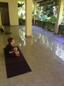 Kiddo and I enjoyed some yoga