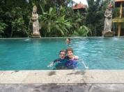 We also had fun swimming