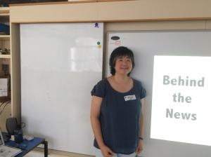 Author friend presentation on newspaper
