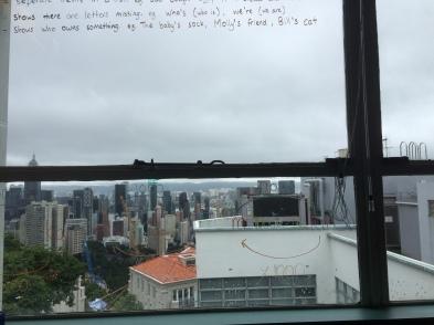 Kiddo's classroom view of Hong Kong