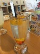 Yummy peach drink